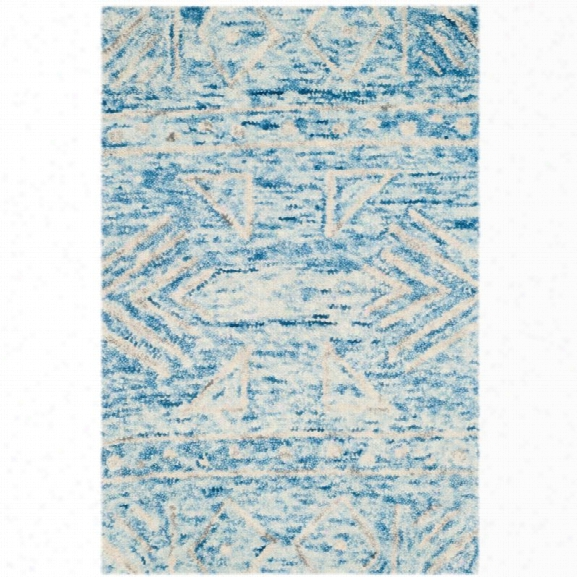 Safavieh Chatham 8' X 10' Hand Tufted Wool Rug In Blue And Ivory