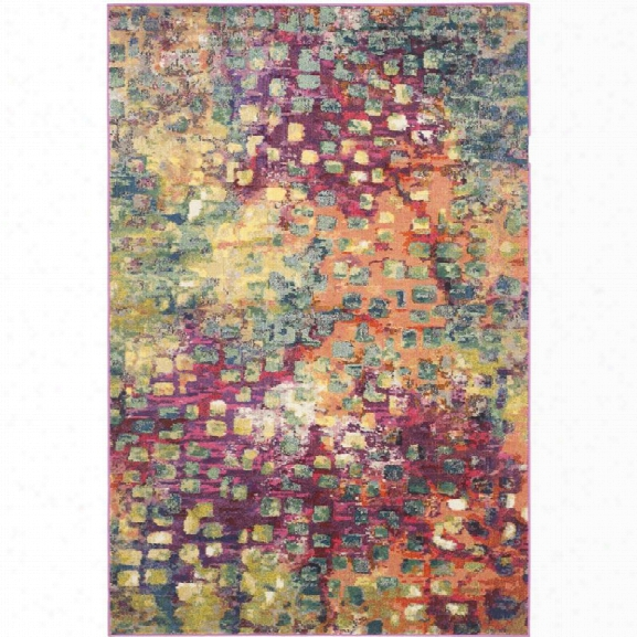 Safavieh Monaco 11' X 15' Power Loomed Polypropylene Rug In Pink