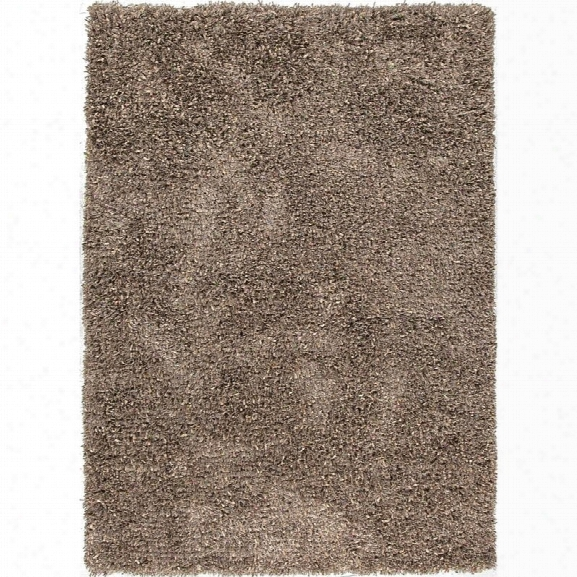 Jaipur Rugs Tribeca 5' X 7'6 Shag Polyester Rug In Brown