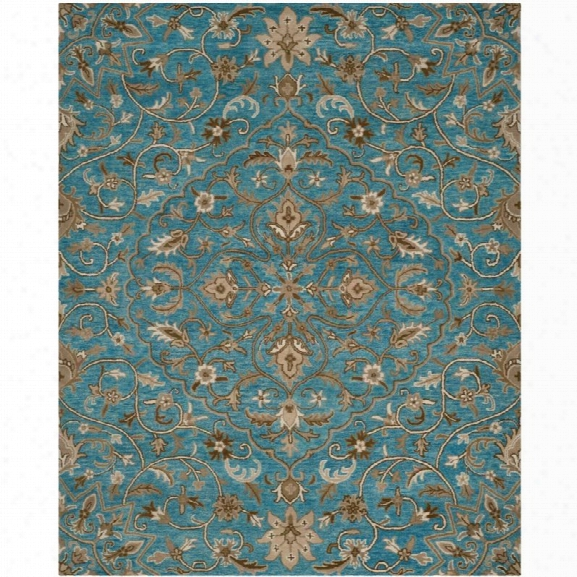 Safavieh Bella 8' X 10' Hand Tufted Wool Pile Rug In Blue And Taupe