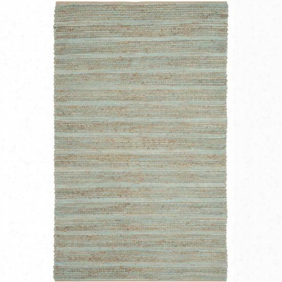 Safavieh Cape  Cod 11' X 15' Hsnd Woven Jute And Cotton Rug In Aqua
