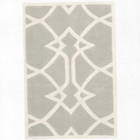 Safavieh Capri 8' X 10' Hand Tufted Wool Pile Rug In Gray And Ivory