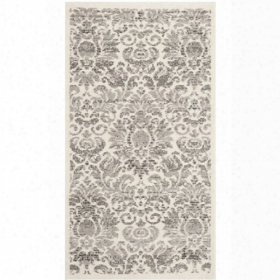 Safavieh Porcello 9' X 12' Power Loomed Rug In Gray And Ivory
