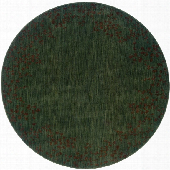 Oriental Weavers Allure 7'8 Round Machine Woven Rug In Blue