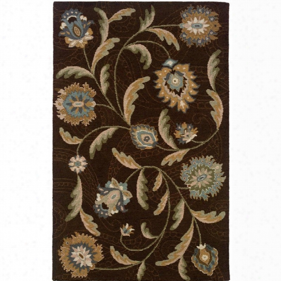 Oriental Weavers Eden 8' X 10' Hand Tufted Rug In Brown