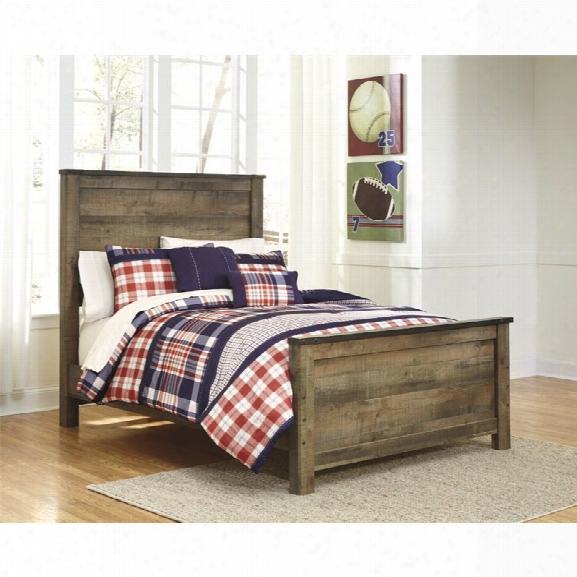 Ashley Trinell Full Panel Bed In Brown