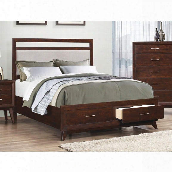 Coaster Carrington California King Storage Panel Bed In Gray