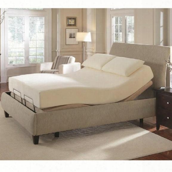 Coaster Premier Bedding Pinnacle King Adjustable Bed In Camel