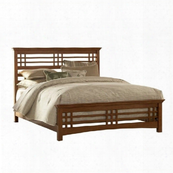 Fashion Bed Avery Panel Bed In Oak-king