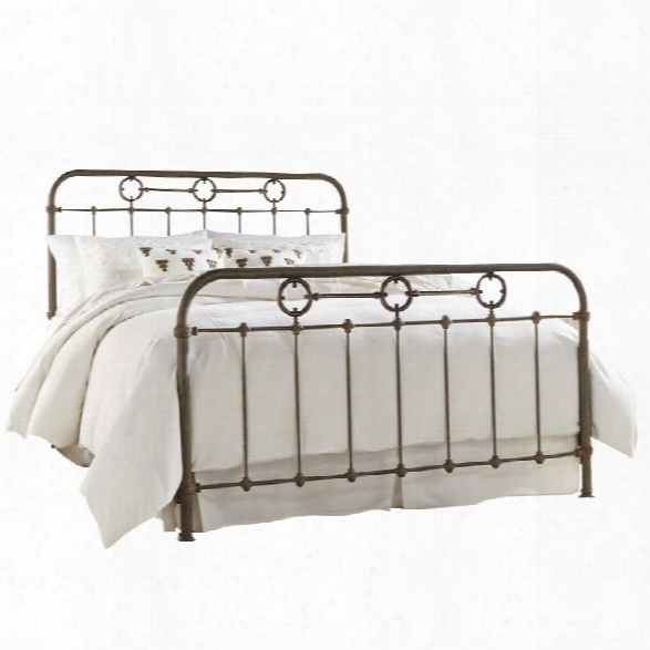 Fashion Bed Madera King Metal Spindle Bed In Rustic Green