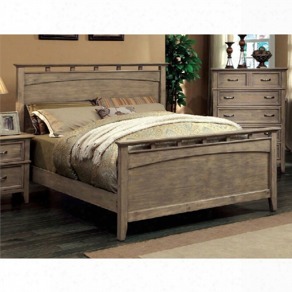 Furniture Of America Ackerson King Panel Bed In Wood