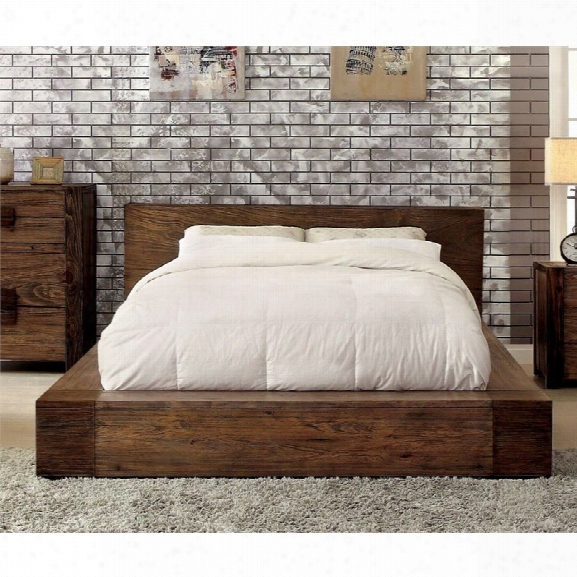 Furniture Of America Elbert California King Platform Bed In Natural