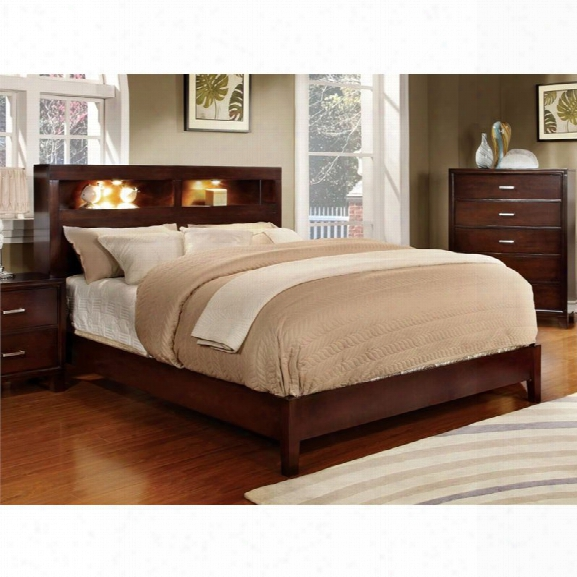 Furniture Of America Jenners California King Platform Bookcase Bed