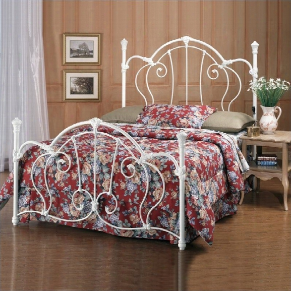 Hillsdale Cherie White Metal Poster Bed-queen