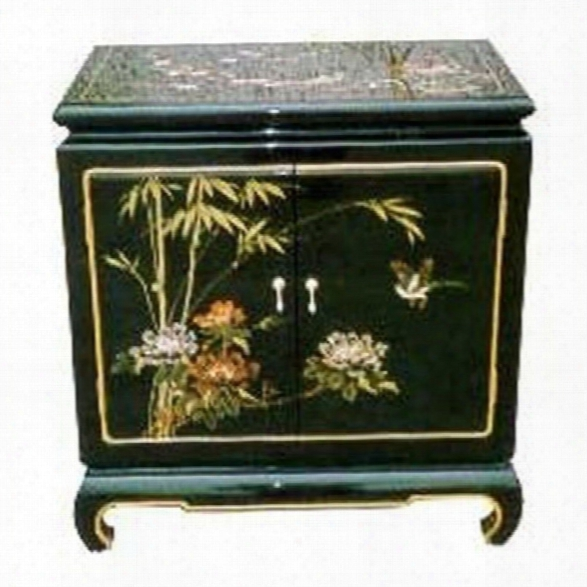 Oriental Furniture End Table In Black