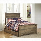 Ashley Trinell Full Panel Bed with Trundle in Brown