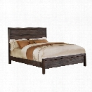 Furniture of America Bahlmer California King Panel Bed in Rustic Brown