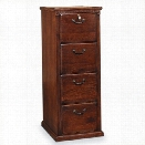 Martin Furniture Huntington Oxford 4 Drawer Vertical File Cabinet in Distressed Burnish