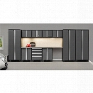 NewAge Products Bold Series 12 Piece Cabinet Set in Gray