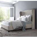ZUO Enlightenment Upholstered Queen Bed in Beige