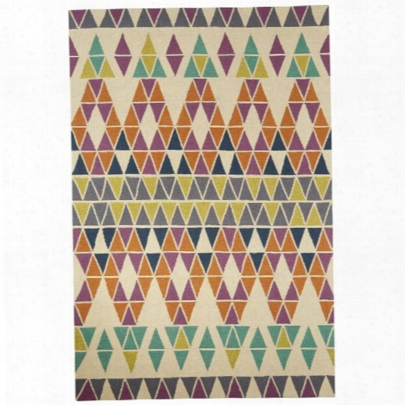 Jaipur Rugs Catalina 7'6 X 9'6 Polyester Rug In Ivory And Purple