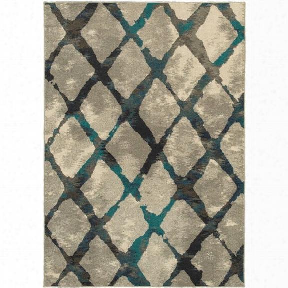 Oriental Weavers Highlands 9'10 X 12'10 Machine Woven Rug In Gray