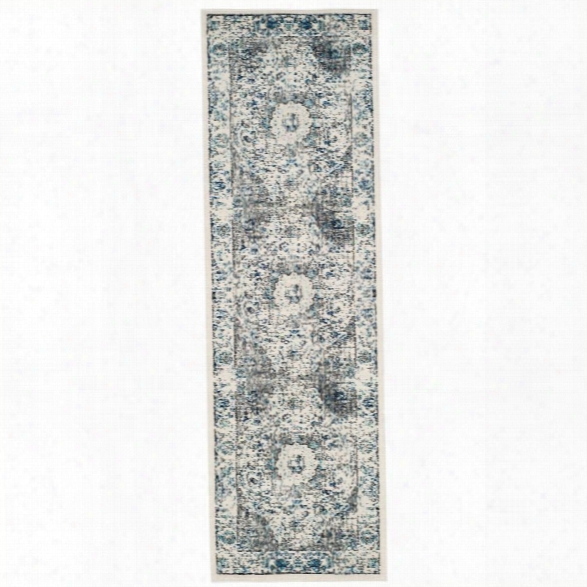 Safavieh Evoke 11' X 15' Power Loomed Rug In Gray And Ivory