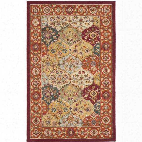 Safavieh Heritage 12' X 15' Hand Tufted Wool Pile Rug In And Red