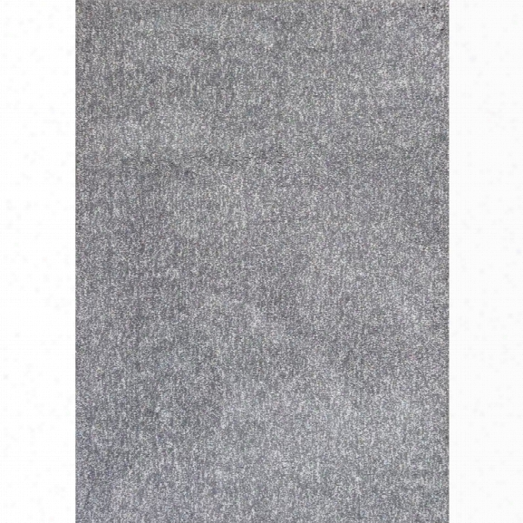 Kas Bliss 7'6 X 9'6 Hand-woven Shag Rug In Gray