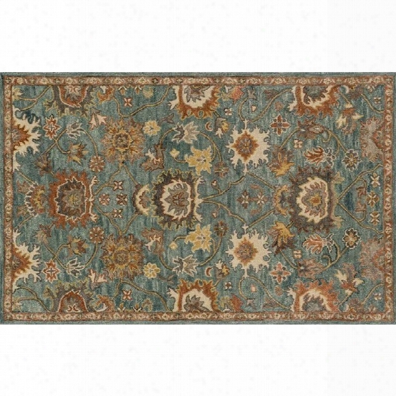 Loloi Underwood 9'3 X 13' Wool Rug In Blue And Rust