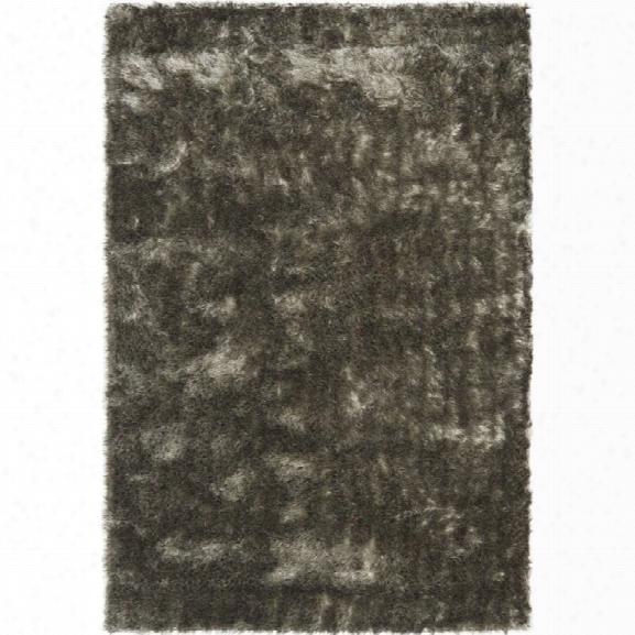 Safavieh Paris Shag 11' X 15' Hand Tufted Polyester Rug In Silver