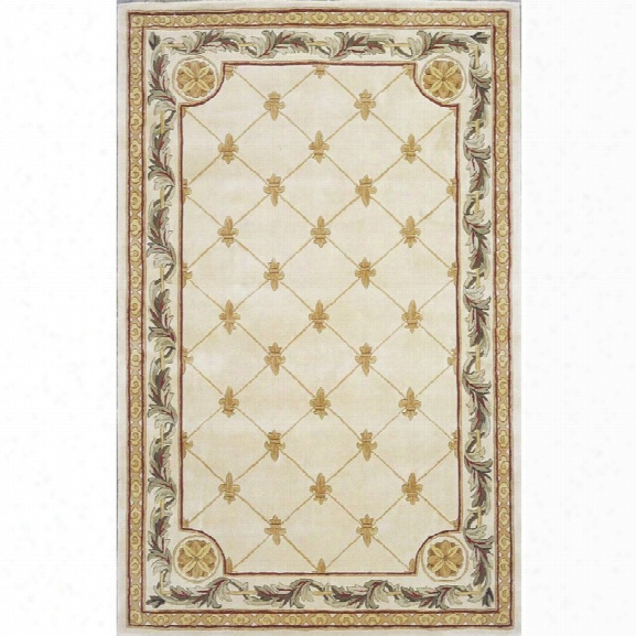 Kas Jewel 9'6 X 13'6 Hand-tufted Wool Rug In Antique Ivory