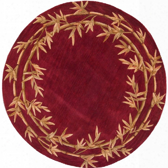 Kas Sparta 7'6 Round Hand-tufted Wool Rug In Red