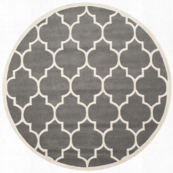Safavieh Chatham Dark Grey Contemporary Rug - Round 8'9