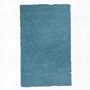 KAS Bliss 9' x 13' Hand-Woven Shag Rug in Highlighter Blue