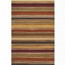 Safavieh Striped Kilim 10' X 14' Hand Woven Wool Pile Rug in Gold