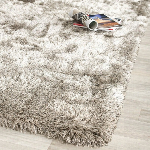 Safavieh Paris Shag 11' X 15' Hand Tufted Polyester Rug In Sable