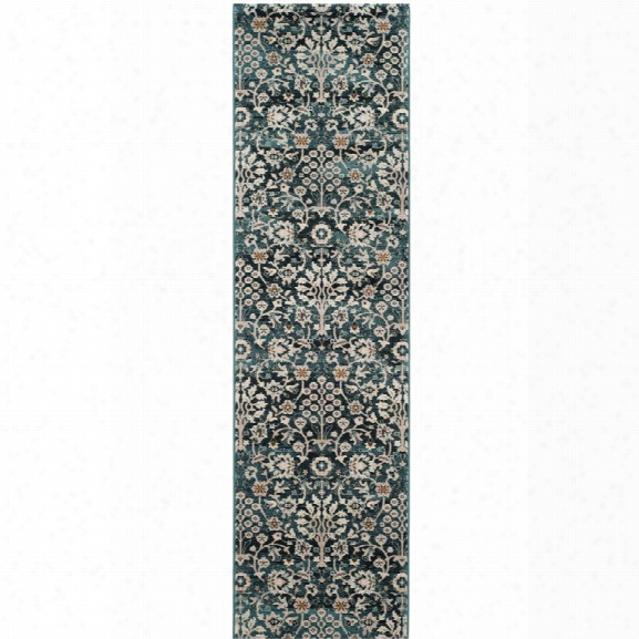 Safavieh Serenity 8'6 X 12' Power Loomed Rug In Turquoise And Cream