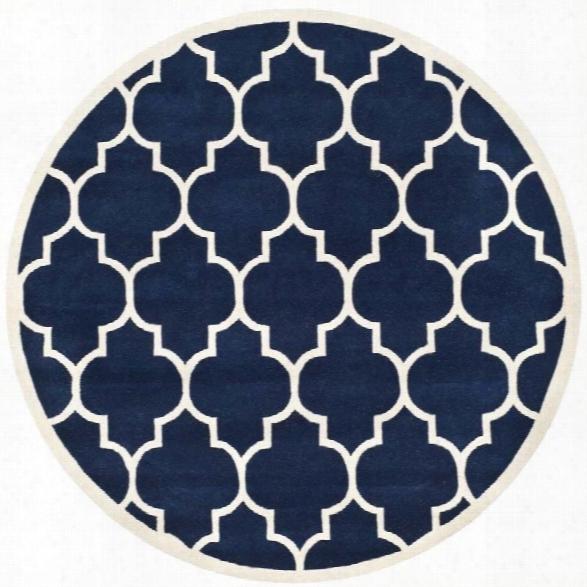 Safavieh Chatham Dark Blue Contemporary Rug - Round 8'9