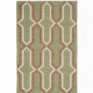 Safavieh Dhurries Green Contemporary Rug - 9' x 12'