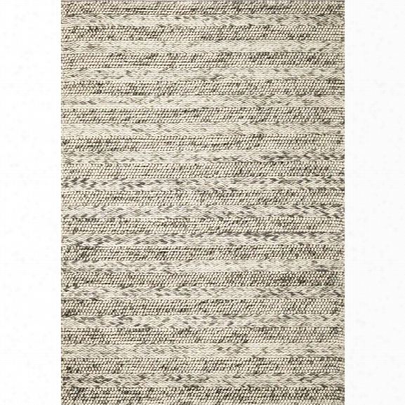 Kas Cortico 5' X 7' Hand-woven Wool Rug In Gray