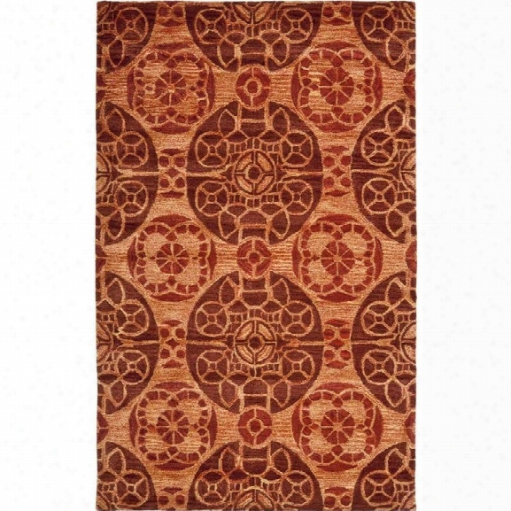 Safavieh Wyndham Cinnamon Contemporary Rug - 8'9 X 12'
