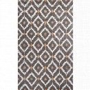 KAS Bob Mackie Home 8' x 11' Hand-Tufted Wool Rug in Mocha