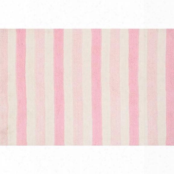 Loloi Lola 7'3 X 9'3 Microfiber Shag Rug In Pink
