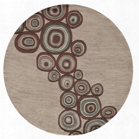 Momeni New Wave 7'9 X 7'9 Round Rug In Mushroom