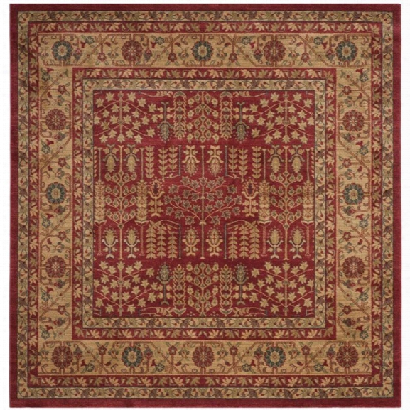 Safavieh Mahal 10' X 14' Rug In Red And Natural