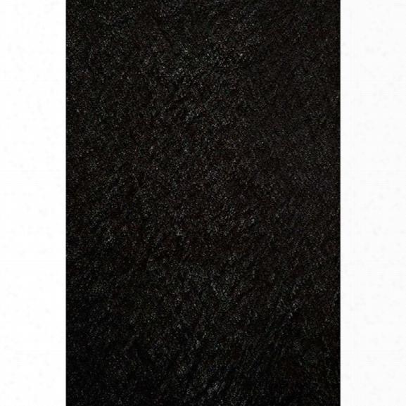 Momeni Luster Shag 9' X 12' Rug In Black