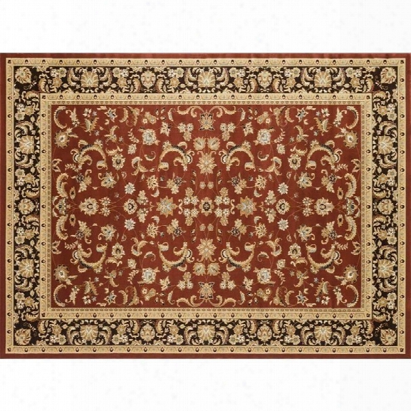 Loloi Welbourne 11'2 X 14'6 Power Loomed Rug In Paprika And Coffee