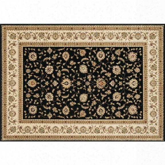 Loloi Welbourne 7'7 X 10'6 Power Loomed Rug In Black And Ivory