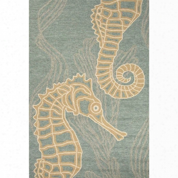 Jaipur Rugs Coastal Lagoon 7'6 X 9'6 Rug In Blue And Tan
